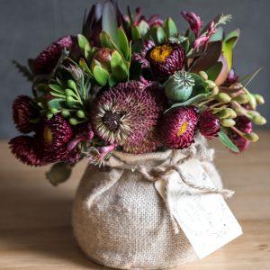 native flowers arranged