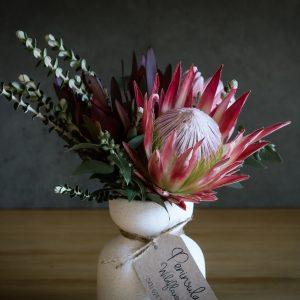 Wildflowers in white vase